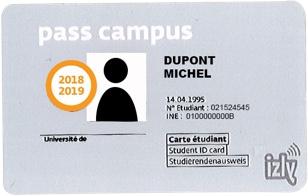 ancien pass campus avec sticker 2018-19