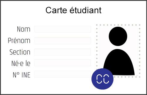 carte étudiant avec sticker Cc 2018-19