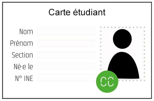 carte étudiant avec sticker Cc 2019-20